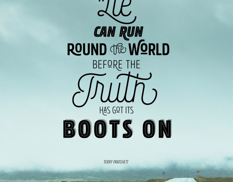 terry pratchett quote set in rockeby font family