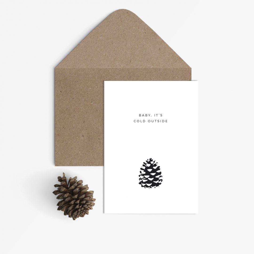 """schlichte weihnachtskarte von """"sonst noch was?"""""""