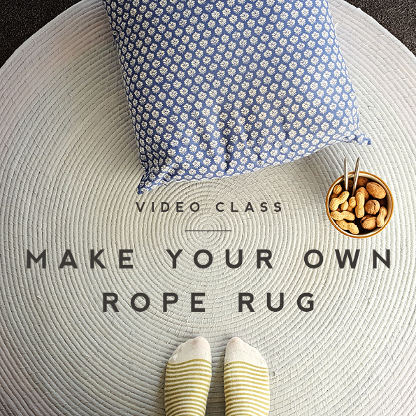 sew your own rope rug - skillshare video class