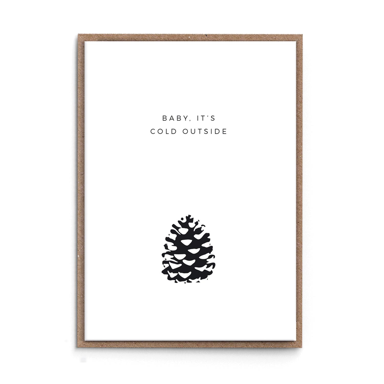 weihnachtskarte cold outside sonst noch was der blog. Black Bedroom Furniture Sets. Home Design Ideas